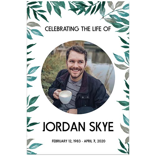 Greenery Funeral Welcome Sign Template