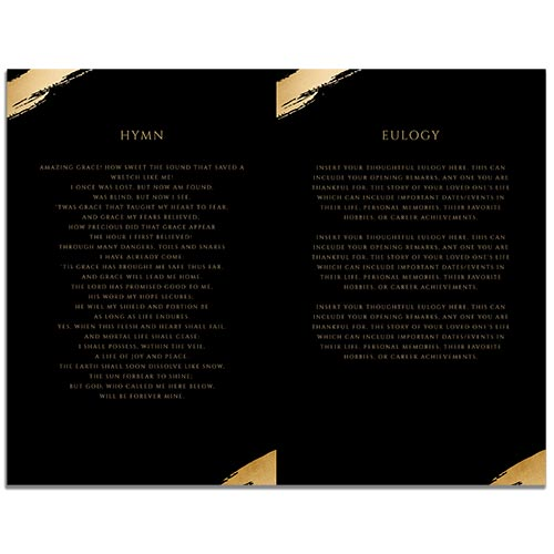 Page 2 Hexagon Funeral Program 8 Paged Template