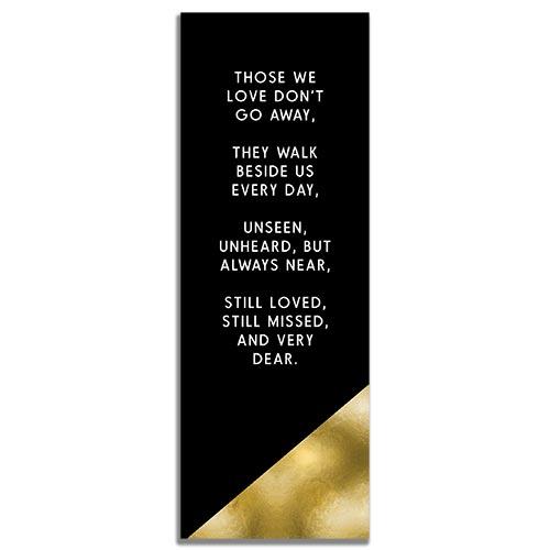 Back Side of the Modern Minimal Designed Funeral Bookmark Template
