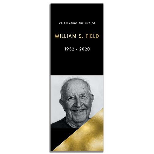 Front Side of the Modern Minimal Funeral Bookmark Template