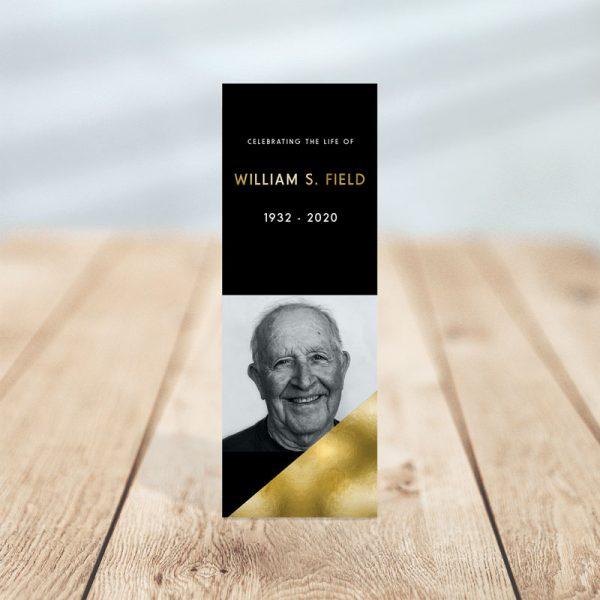 Modern Minimal Funeral Bookmark
