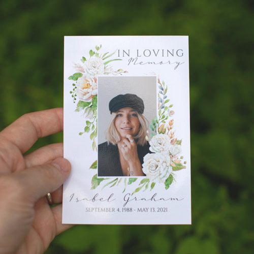 Personalized Prayer Cards for Funerals