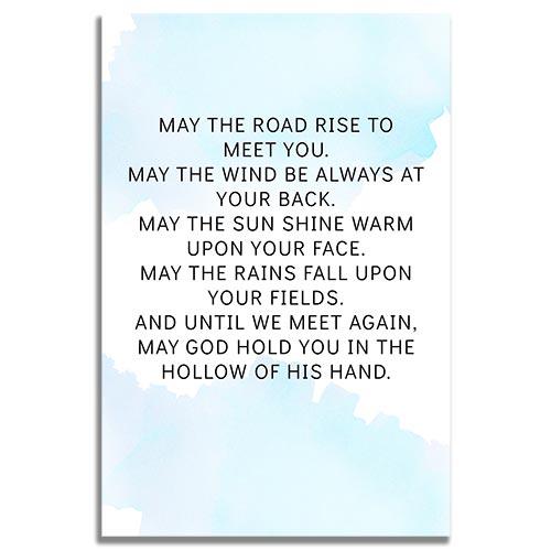 Back Side - Skye Funeral Prayer Card Template