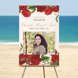 Welcome Signs for Funerals - Vintage Rose