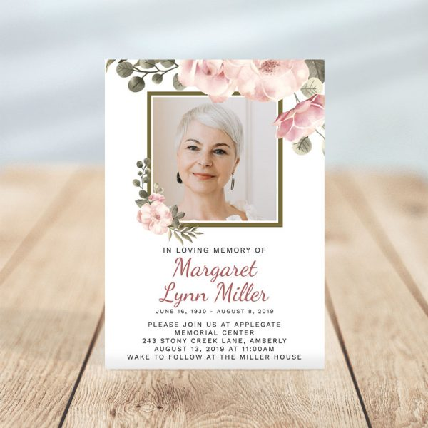 Funeral Invitation Template: Serenity