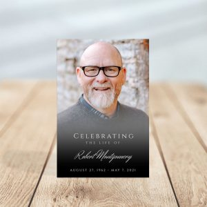 Personalized Funeral Prayer Card: Photo Portrait