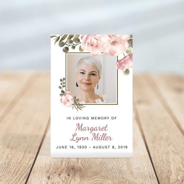 Funeral Prayer Card: Serenity