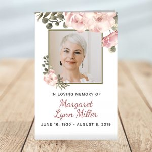 Personalized Funeral Programs: Serenity