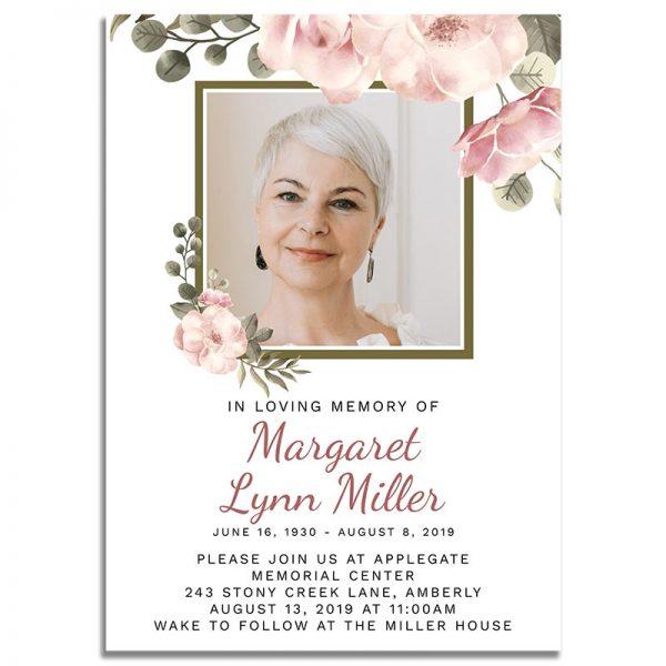 Funeral Invitation Template: Green Serenity