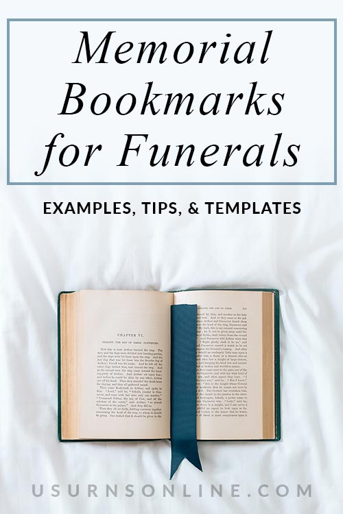 Examples of Memorial Bookmarks for Funerals