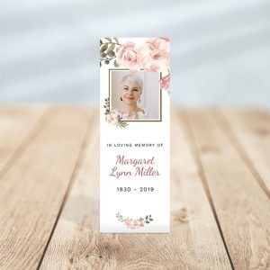 Personalized Memorial Bookmark: Serenity