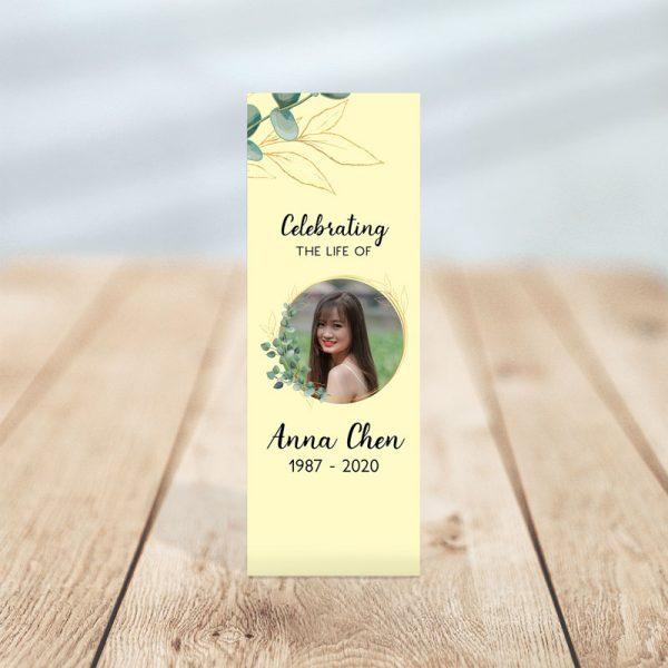 Soft Light Memorial Bookmark Templates