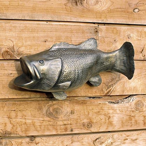 Silver Bass Fish Urn