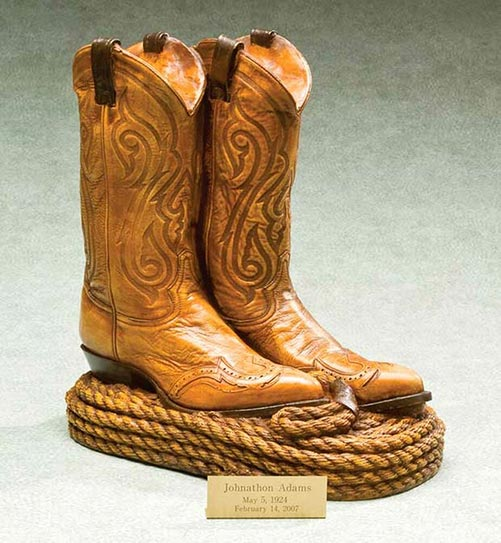 Personalized Cowboy Boots Urn