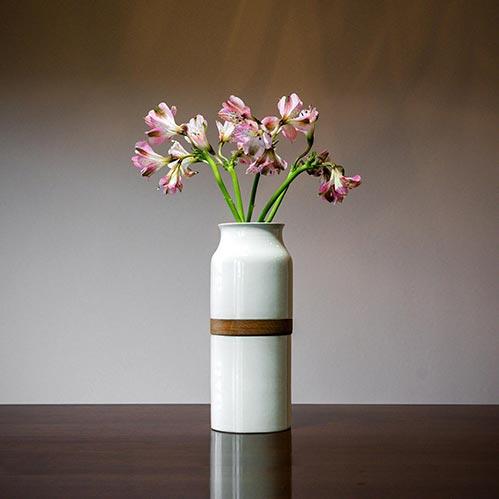 White Flower Vase Urn