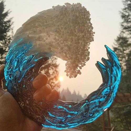 Infused Glass Ocean Urn