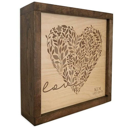 Loving Heart Memorial Plaque Cremation urn