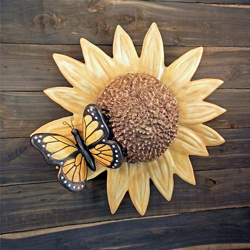 Sunflower and Butterfly Urn