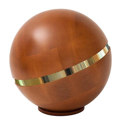 Wooden World Globe Urn