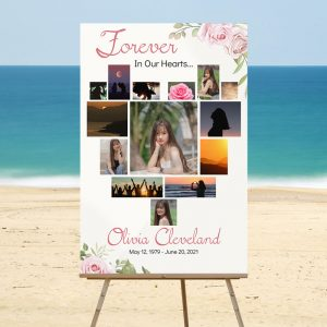 Forever in Our Hearts - Funeral Memory Board