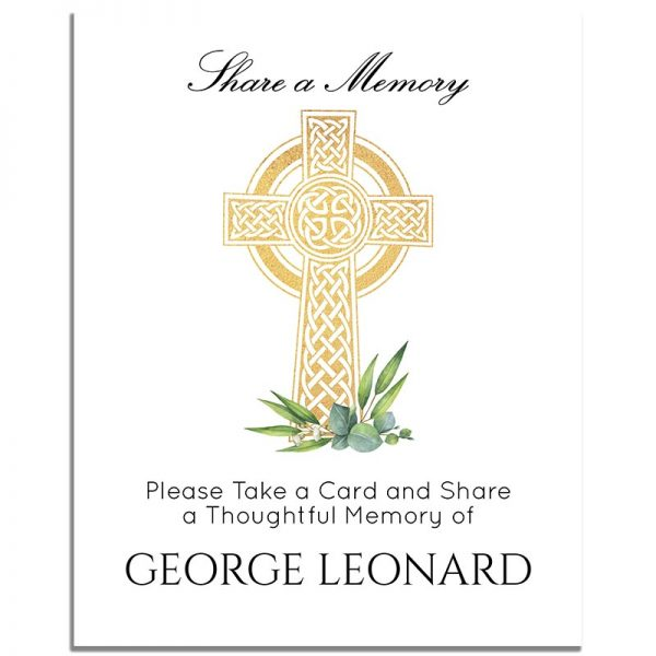 Celtic Cross – Share a Memory Instructions Template