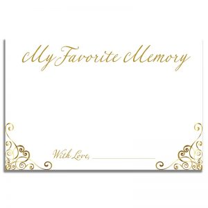 Elegant Gold Frame – Share a Memory Card Template