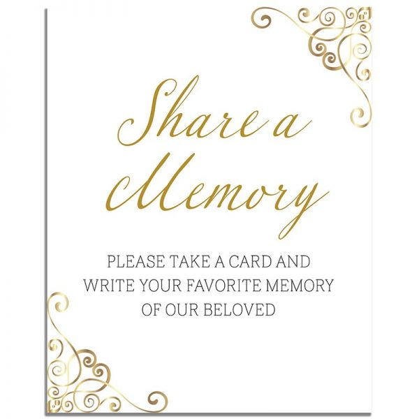 Elegant Gold Frame – Share a Memory Instructions Template