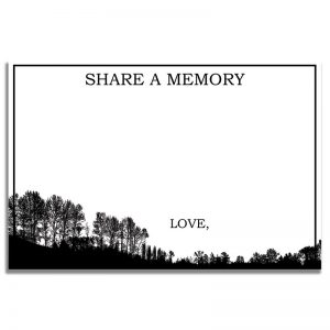 Forest Silhouette – Share a Memory Card Template