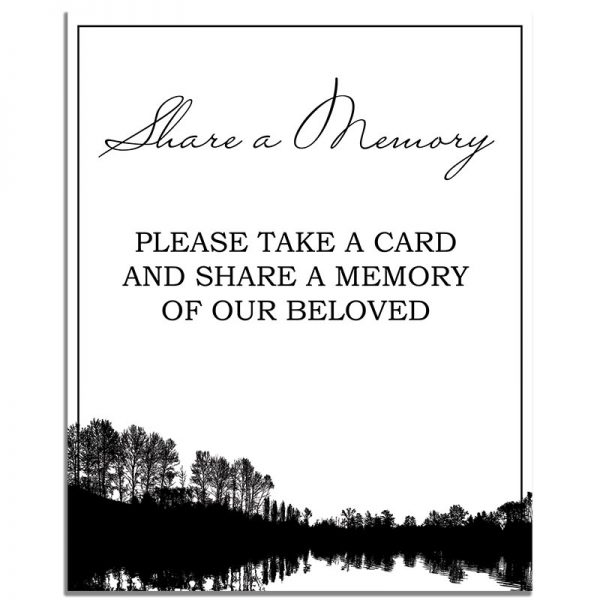 Forest Silhouette – Share a Memory Instructions Template