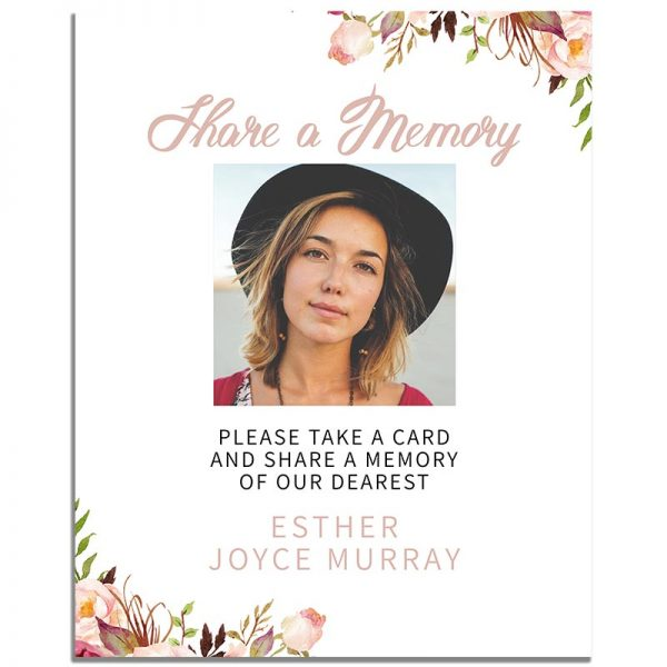 Gentle Florals Life Celebration – Share a Memory Instructions Template