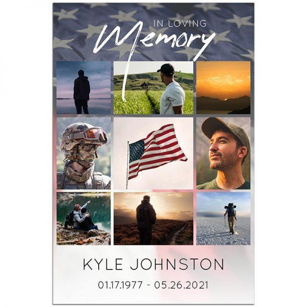 Military Funeral Memory Board
