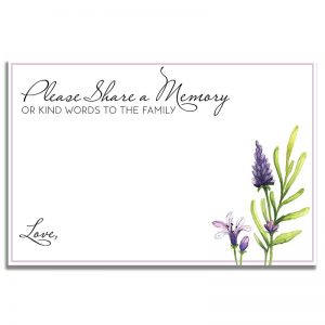 Peaceful Violet – Share a Memory Card Template