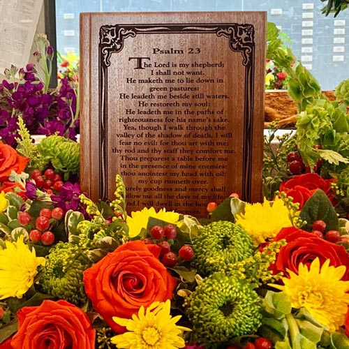 Urn Display with Flowers