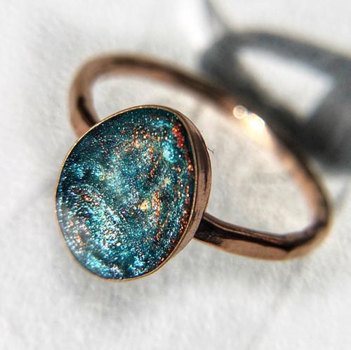 Cremation Jewelry: Galaxy Ring