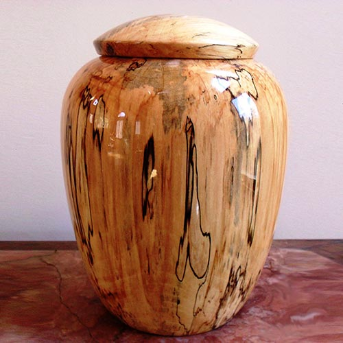 Hand Turned Wooden Urn