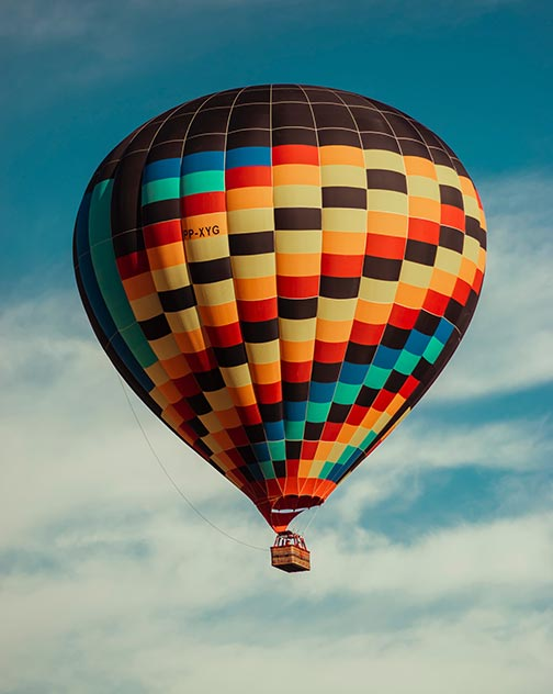What to Do with Ashes: Hot Air Balloon