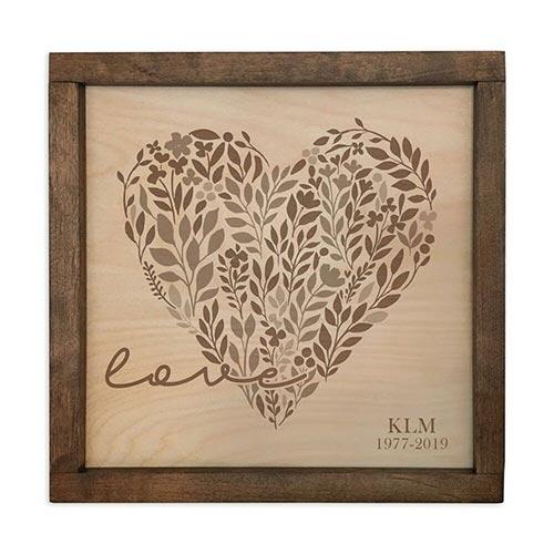 Memorial Plaque Urns: Love Heart