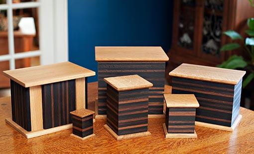 Modern Urns: Wooden Box Urn