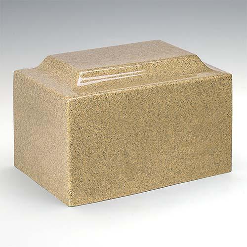 Cultured Marble Urn: Golden Sand