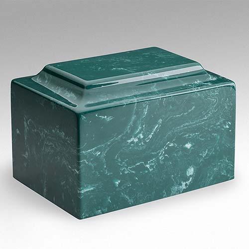Cultured Marble Urn: Jade