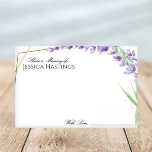 Lavender Frame – Share a Memory Card Template
