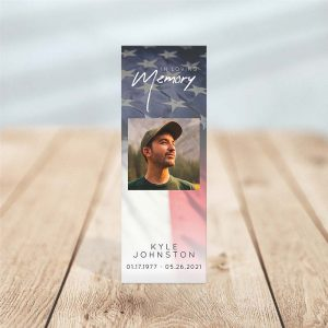 Military Funeral Bookmark Template – Front