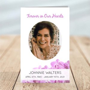 4 Page Funeral Program Template: Orchid
