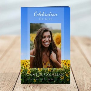 Funeral Program: Sunflower Fields