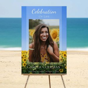 Funeral Welcome Sign: Sunflower Fields