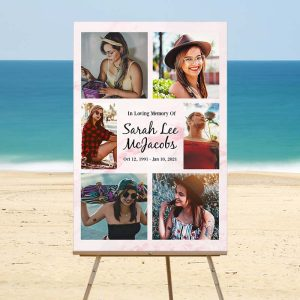 Lovely Rose Marble Memory Board - Beach