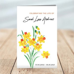 Painted Floral Funeral Program (4 page) - Temp Photo