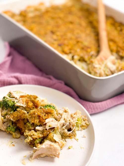 Easy Chicken Stuffing Casserole