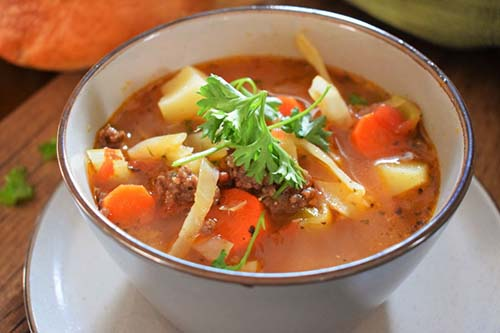 Hearty Beef Cabbage Soup